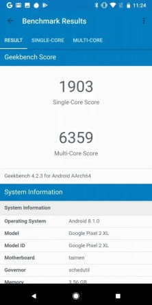 Pixel 2 XL Geekbench1903