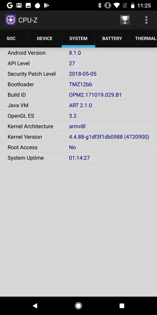 Pixel 2 XL CPU-Z4