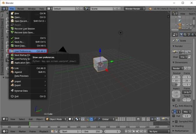 3DCGソフト Blender 日本語