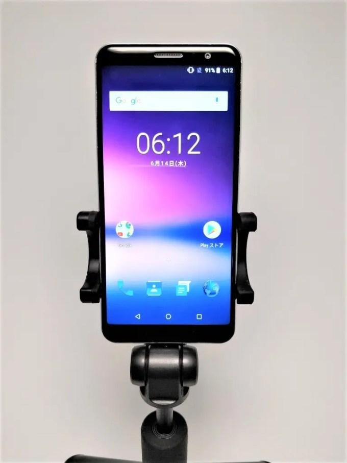 Xiaomiスマホ用自撮り棒本体に装着できるBluetoothシャッター  Xiaomiスマホ用自撮り棒 本体とBTシャッター   Xiaomi スマホ折りたたみ三脚・自撮り棒10  Xiaomiスマホ用自撮り棒 縦 ディスプレイ