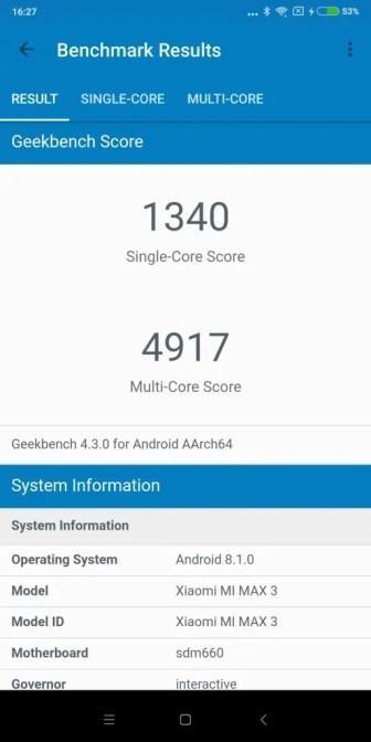 Xiaomi Mi Max 3 Geekbench2