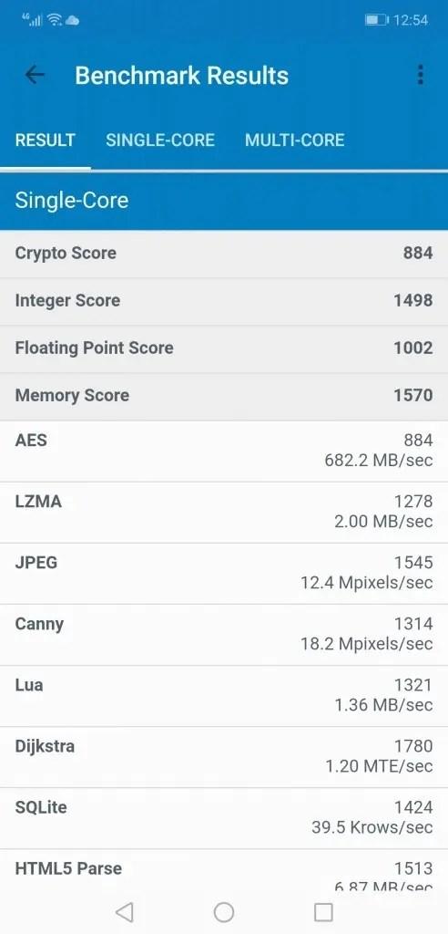 Huawei Honor 8X Max Geekbench2