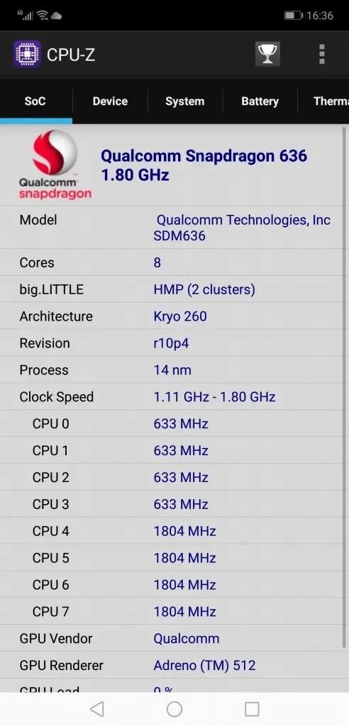 Huawei Honor 8X Max CPUZ1