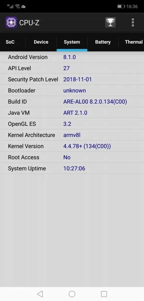 Huawei Honor 8X Max CPUZ4