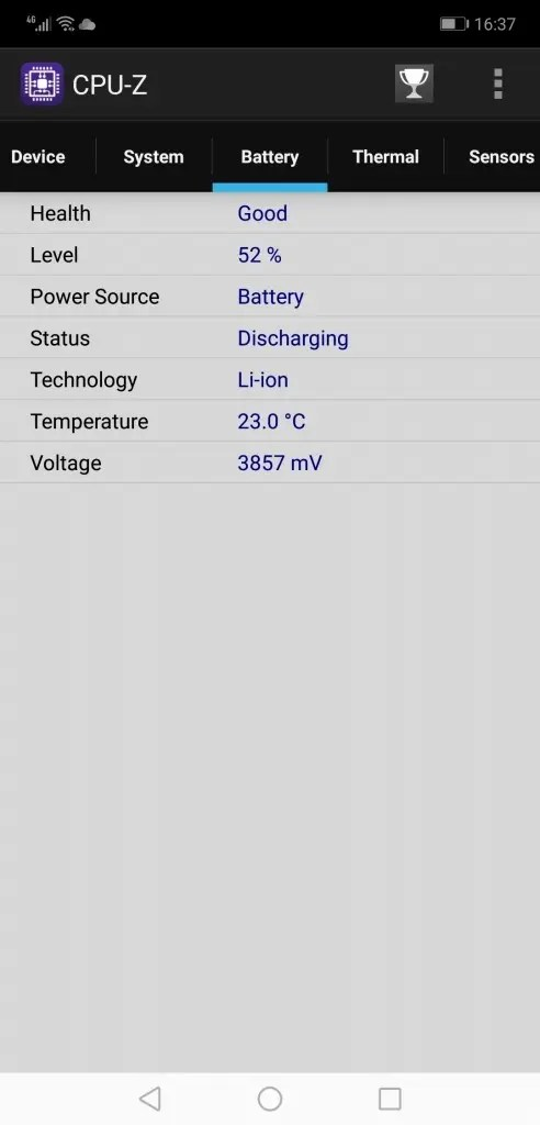 Huawei Honor 8X Max CPUZ3