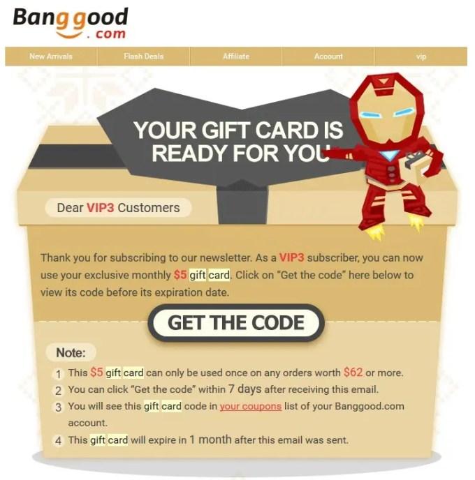 Banggoodギフトカード
