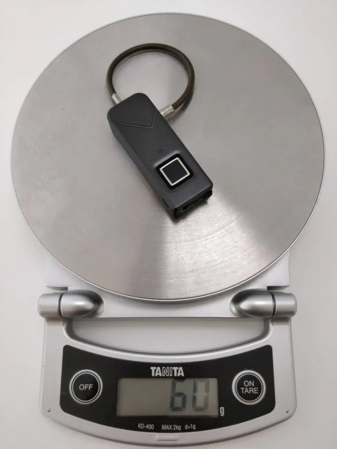 Smart Fingerprint Keyless Padlock Portable 重量