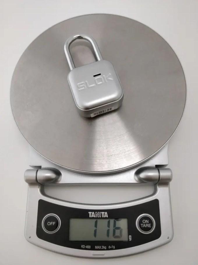 SLOK Mini Smart Bluetooth Padlock 重量