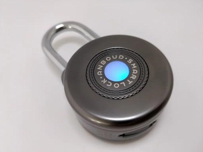 Bluetooth Smart Lock Anti Theft Alarm Lock バッテリー点灯