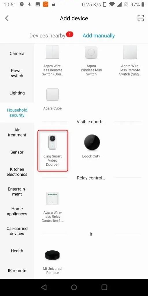 Xiaomi 電池駆動ナイトビジョンカメラ ドアベル アプリ ペアリング