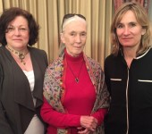 Beyond GM Directors Pat Thomas  and Francesca Price with Jane Goodall