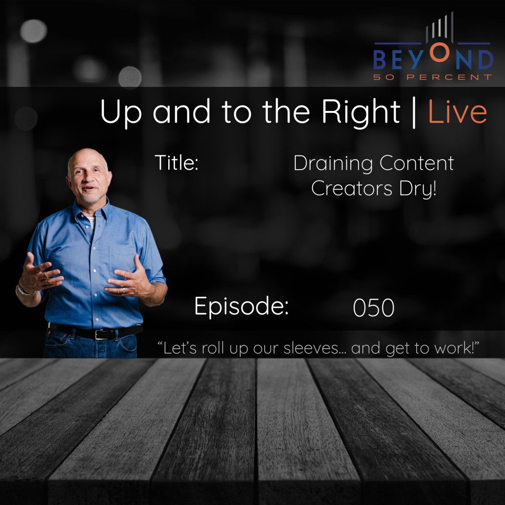 consuming content cover art for up and to the right episode 050