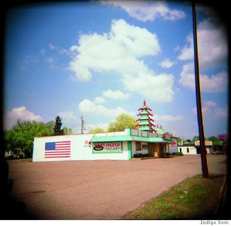 Woo's Pagoda, Eau Claire, Wisconsin, Indigo Som