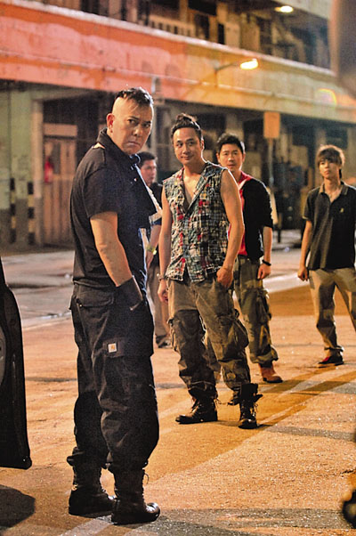 Anthony Wong & Francis Ng in happier times, Laughing Gor: Turning Point, 2009