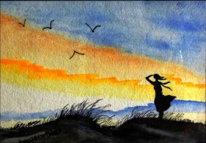 The Girl In The Sunset