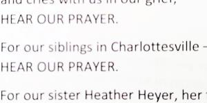 Prayer for Charlottesville