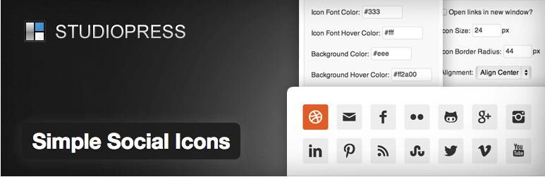 simple social icon plugin