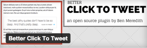 better click to tweet plugin