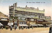A colour graphic of the early Palace Hotel