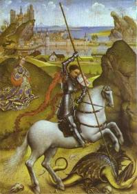 St. George and the Dragon by Rogier van der Weyden (1432)