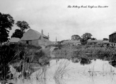 The Doom Pond whilst in use by the adjacent pottery company, around a century ago