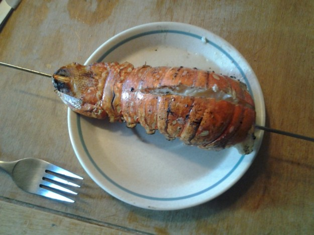 Lobster Tail with Cannabutter