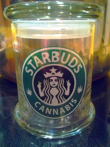 Starbuds Cannabis stash jar