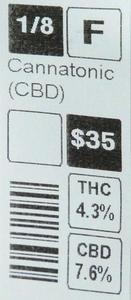 Cannatonic high CBD strain