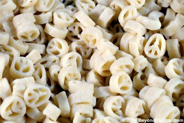 hippie pot peace pasta
