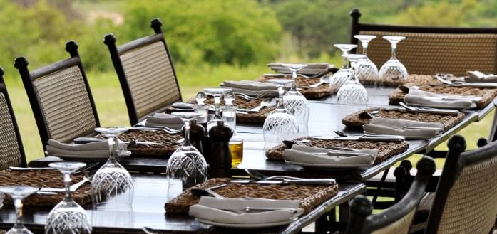 dining at kirkman kamp south africa