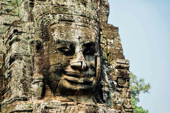 siem reap smiling face temple