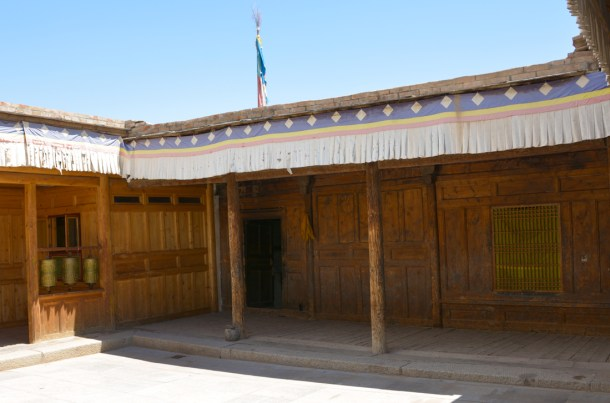 The original, birthhomeof the 10th Panchen Lama. He was born in that corner room, February 19, 1938.