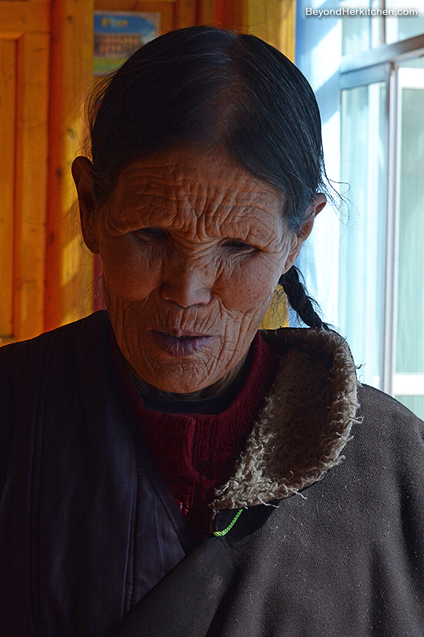 Tibetan woman, Tibetan elder lady