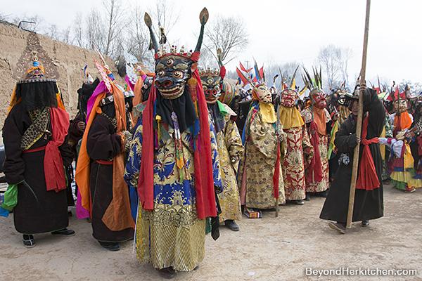 Bon religious dance, Buddhists dance
