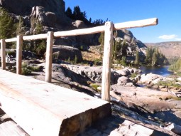 Foot Bridge at the base of Garnet Lake