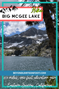 Big McGee Lake via McGee Creek Trail: John Muir Wilderness