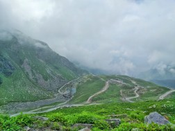 At the top of Rohtang, looking down