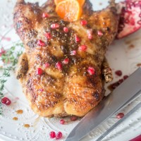 Za'atar and Pomegranate Molasses Roasted Duck