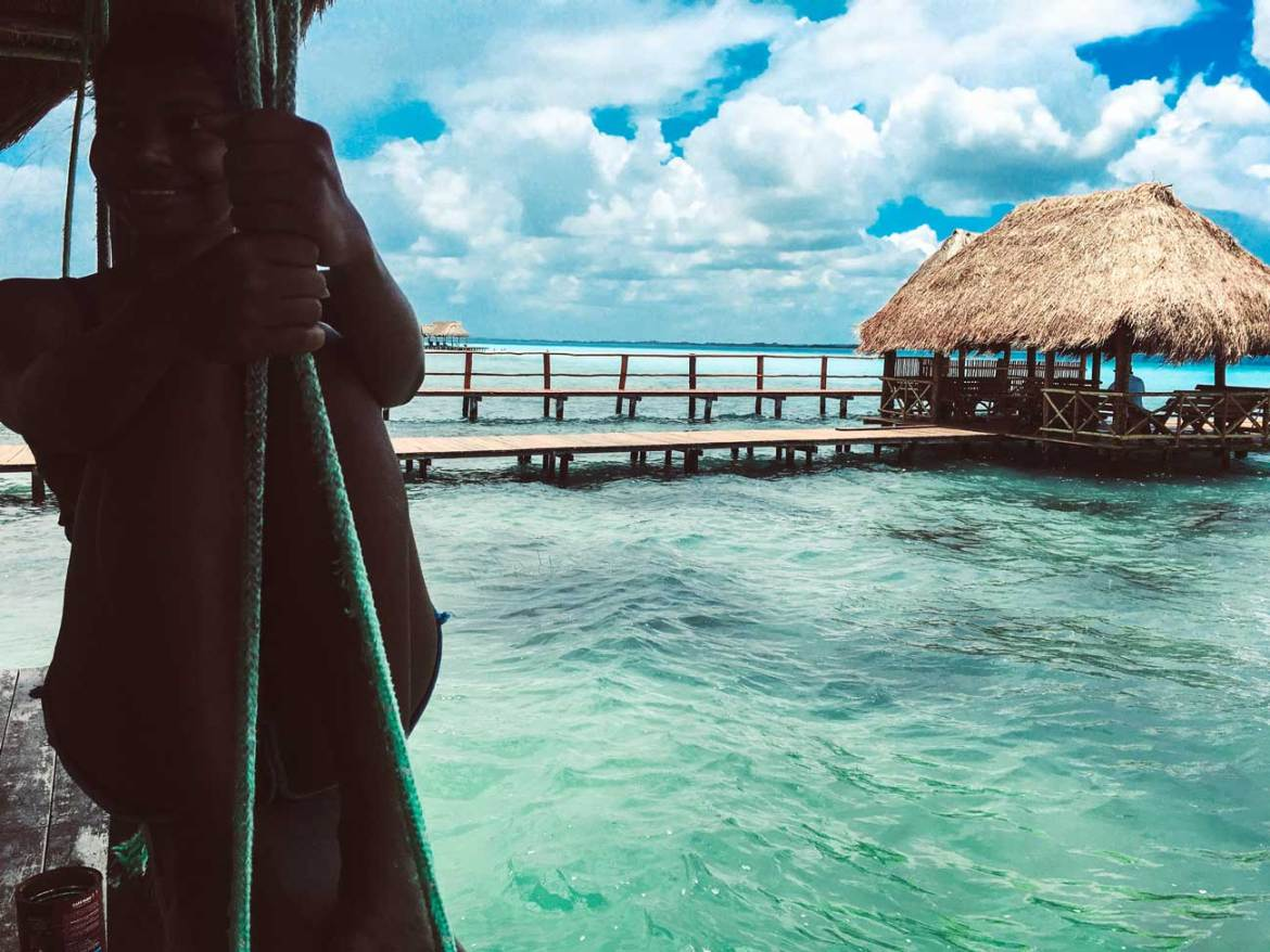 Beautiful Day in Bacalar, Mexico, Bacalar Lagoon