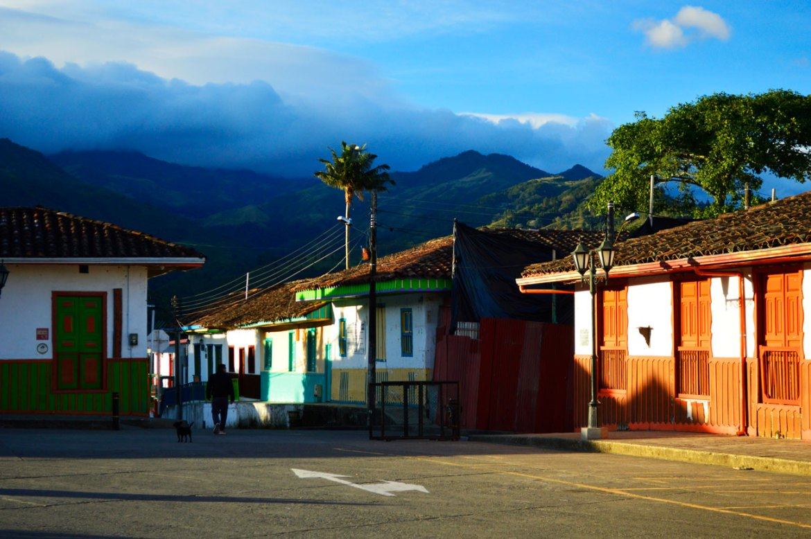 Beautiful Salento Colombia during sunrise, but from Salento to medellin, flota occidental