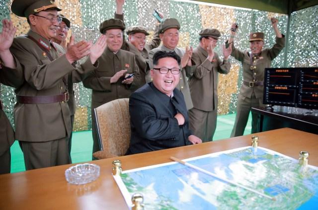 North Korea Missile Kim