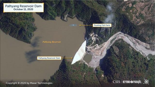 Palhyang Reservoir Dam. Copyright 2020 Maxar Technologies.