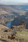 Arpa Cayi Gorge the Border between Armenia and Turkey