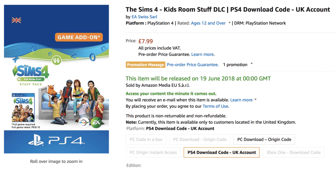 Release Dates Leaked for Parenthood & Kids Room Stuff on Console