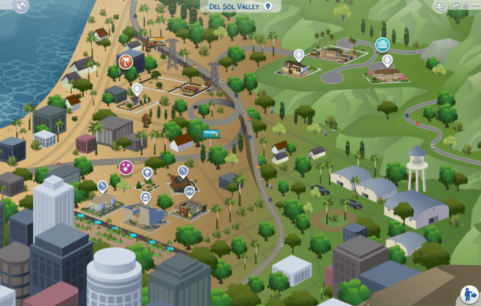 Map view of Del Sol Valley