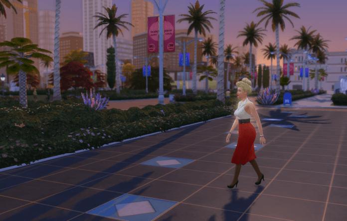 Sim walking on star walk of fame