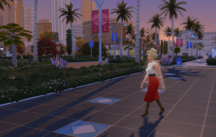 Sim walking on star walk of fame