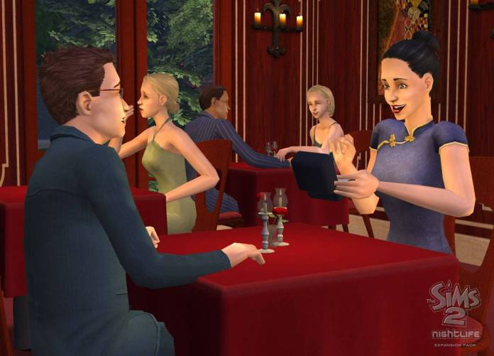 Dating in The Sims 2 Nightlife
