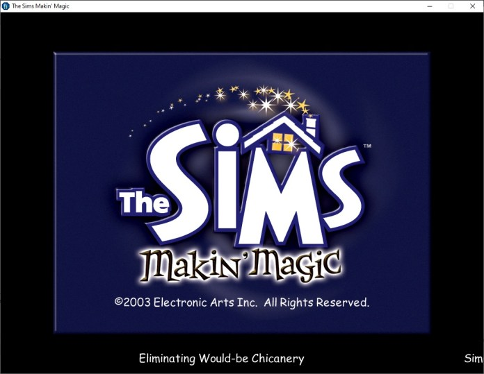 The Sims Makin Magic Loading Screen