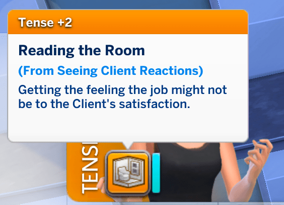 A moodlet showing that the clients were not happy